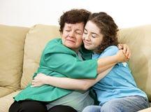 Amour de descendant de mère Image libre de droits