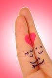 Amour de doigts Photographie stock
