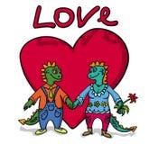 Amour de dragons Photographie stock