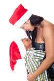 Amour de famille de Noël Photo stock