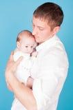 Amour de famille de papa et de petite fille Image stock