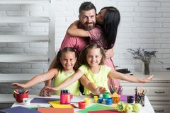 Amour de famille et concept de soin Photos stock