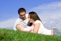 Amour de Famiy Image libre de droits