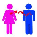 Amour de femme et d'homme Images libres de droits