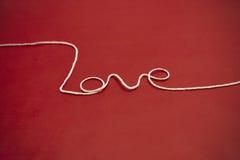 Amour de fil de ficelle Photo libre de droits