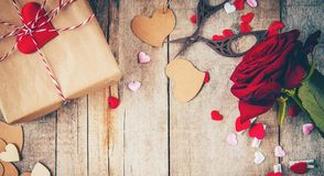 Amour de fond et romantique Image libre de droits