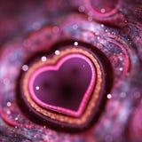 Amour de fractale photographie stock