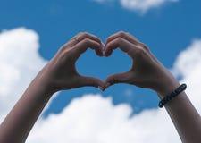 Amour de geste Images libres de droits