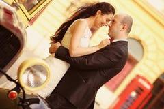 Amour de jeunes mariés rétro Photographie stock