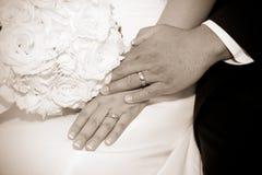 Amour de jour du mariage Photographie stock