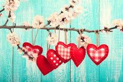 Amour de jour du mariage beau Coeur accrochant dessus Image libre de droits