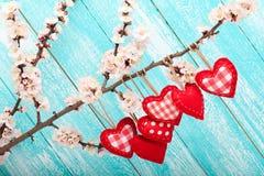 Amour de jour du mariage beau Coeur accrochant dessus Photos libres de droits