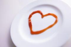 Amour de ketchup Images libres de droits