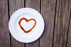 Amour de ketchup Photo libre de droits