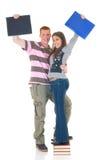 Amour de l'adolescence de lycée d'étudiants Images libres de droits