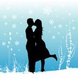 Amour de l'hiver Photographie stock libre de droits
