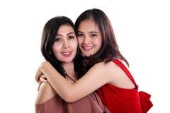 Amour de la mère et de la fille d'isolement Images libres de droits