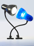 amour de lampes Images libres de droits