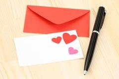 amour de lettre Images stock