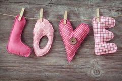 Amour de lettres Images stock