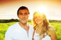 Amour de lever de soleil Image stock