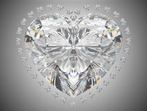 Amour de luxe - diamant de coupure de grand coeur Photo stock