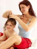 Amour de mère. Photographie stock libre de droits