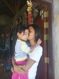 Amour de mère et de filles Photo libre de droits