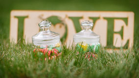 Amour de macaron Photographie stock libre de droits