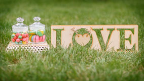 Amour de macaron Image stock