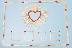 Amour de matchs Image stock