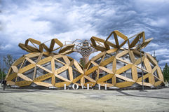 Amour de Milan Expo 2015 il Pavillon Photo libre de droits