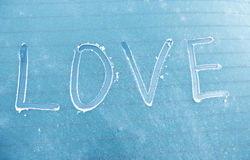 Amour de mot écrit Photographie stock