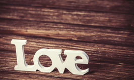 Amour de mot Photos libres de droits