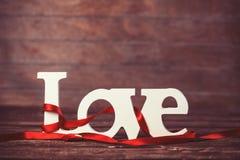 Amour de mot Photos stock