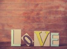 Amour de mot Images libres de droits