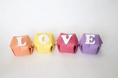 Amour de mot Photographie stock
