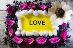 Amour de mot Photographie stock libre de droits