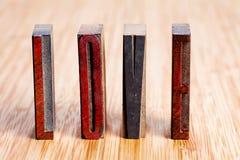 Amour de mot lettres en bois, texturisées Image stock