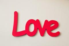 Amour de mot St Valentine Day ou concept de jour du mariage Photographie stock