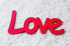Amour de mot St Valentine Day ou concept de jour du mariage Photos stock