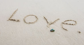 Amour de mots Photos libres de droits