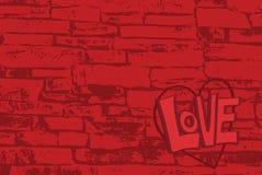 Amour de mur de briques Photographie stock