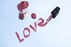 Amour de Nailpolish Images libres de droits