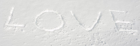 Amour de neige Image libre de droits