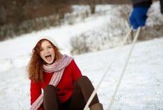 Amour de neige Photo stock