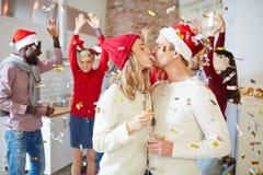 Amour de Noël Photographie stock libre de droits
