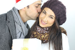 Amour de Noël Image libre de droits