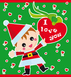 amour de Noël illustration stock