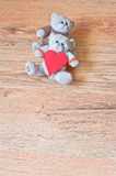 Amour de nounours Image stock